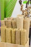 Carta dalle fibre tessili naturali Fotografia Stock Libera da Diritti