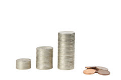Carta das moedas Fotografia de Stock