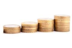 Carta das moedas Foto de Stock