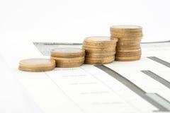 Carta das moedas Imagens de Stock