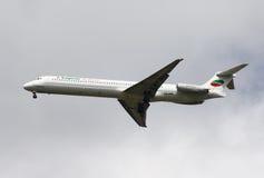 Carta de aire búlgara Mcdonnell Douglas MD-82 Foto de archivo