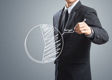 Carta de alvo do desenho do homem de negócios Imagem de Stock Royalty Free
