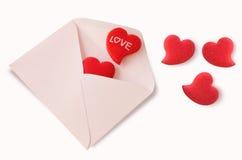 Carta de amor Foto de archivo libre de regalías