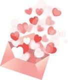 Carta de amor Fotografia de Stock
