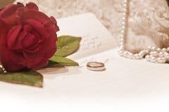 Carta de amor Fotos de Stock Royalty Free