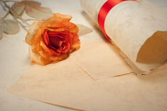 Carta de amor Foto de Stock Royalty Free