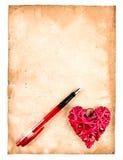 Carta de amor imagem de stock