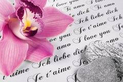 Carta de amor imagenes de archivo