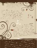 Carta de amor de Grunge Fotos de archivo libres de regalías