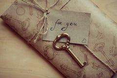 Carta de amor para el día de tarjeta del día de San Valentín Imagen de archivo libre de regalías
