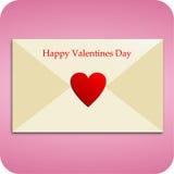 Carta de amor para el día de tarjeta del día de San Valentín Imágenes de archivo libres de regalías