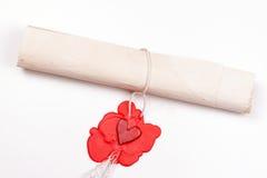Carta de amor Fotografia de Stock Royalty Free