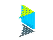 carta de asunto 3D. Fotografía de archivo libre de regalías