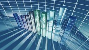 Carta de barra do negócio para o conceito econômico Fotos de Stock Royalty Free
