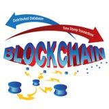 Carta de Blockchain Imagen de archivo libre de regalías