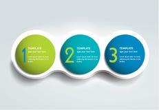 Carta de bolha de três elementos das etapas, esquema, diagrama, molde ilustração royalty free