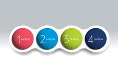 carta de bolha do elemento de 4 etapas, esquema, diagrama, molde ilustração royalty free