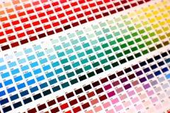 Carta de color Imagen de archivo