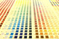 Carta de color Imágenes de archivo libres de regalías