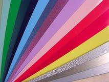 Carta de color de las persianas Foto de archivo