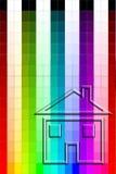 Carta de cor - pintura de casa ilustração do vetor