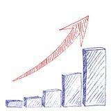 Carta de crecimiento Imagen de archivo libre de regalías