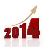 carta 2014 de crecimiento Imagen de archivo libre de regalías