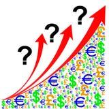 Carta de crecimiento de la pregunta Imagen de archivo libre de regalías