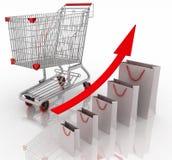Carta de crecimiento de las ventas Fotografía de archivo
