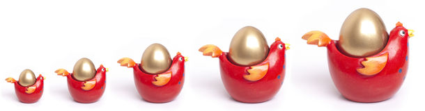 Carta de crecimiento de oro del huevo Imagenes de archivo