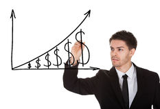 Carta de crecimiento del dólar Imagen de archivo