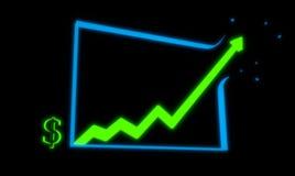 Carta de crecimiento de la renta 3d rinden Fotografía de archivo libre de regalías