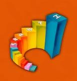 Carta de crescimento Imagem de Stock