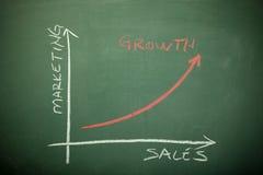 Carta de crescimento Fotografia de Stock Royalty Free