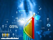 Carta de crescimento da bolsa de valores ilustração stock