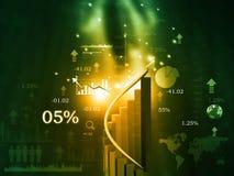 Carta de crescimento da bolsa de valores ilustração royalty free