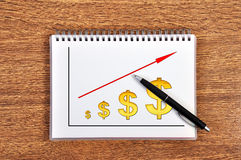 Carta de crescimento do desenho Imagens de Stock Royalty Free
