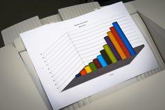 Carta de crescimento do negócio Fotografia de Stock
