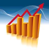 Carta de crescimento do negócio ilustração royalty free
