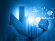 carta de crescimento do negócio 3d Imagens de Stock