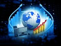 carta de crescimento do negócio 3d Foto de Stock