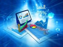 carta de crescimento do negócio 3d Imagens de Stock Royalty Free