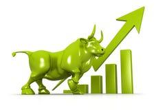 Carta de crescimento do negócio e bul Imagens de Stock