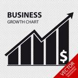 Carta de crescimento do negócio - ilustração do vetor - isolada no fundo transparente Foto de Stock Royalty Free