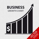 Carta de crescimento do negócio - ilustração do vetor - isolada no fundo transparente Imagem de Stock Royalty Free