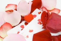 Carta de día de la tarjeta del día de San Valentín. ¡con amor! Imagen de archivo
