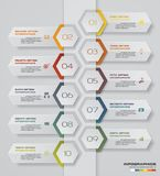 carta de elemento de Infographics de 10 pasos para la presentación EPS 10 Fotos de archivo