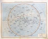 Carta de estrella del vintage, 1890. Imagen de archivo libre de regalías