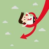 Carta de On Falling Down del hombre de negocios ilustración del vector