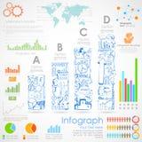 Carta de Infographics del negocio Fotografía de archivo